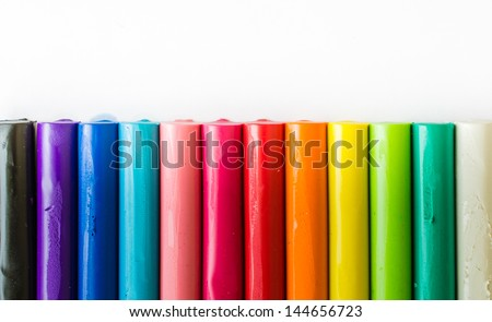 Colorful clay for background&texture - stock photo