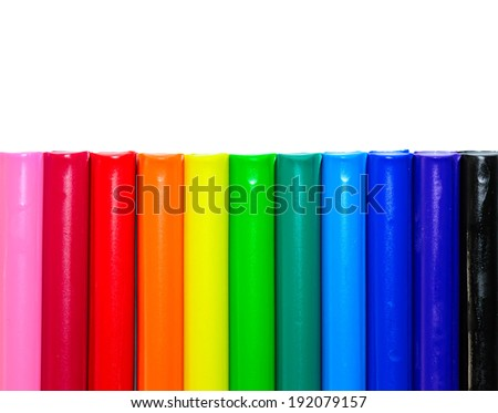 Colorful clay with white background - stock photo