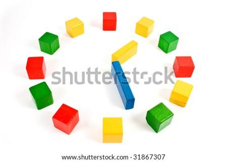 colorful clock - stock photo