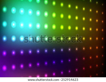 Colorful club light wall background. - stock photo