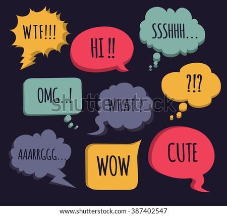 colorful comic speech bubble - stock photo