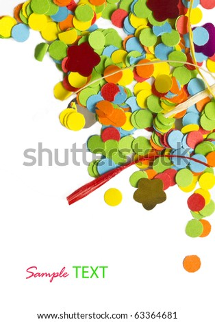colorful confetti background with place for your text - stock photo