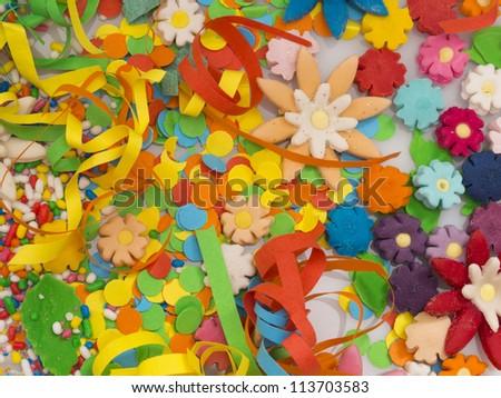 colorful confetti decoration - stock photo