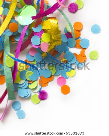colorful confetti with the place for your text - stock photo