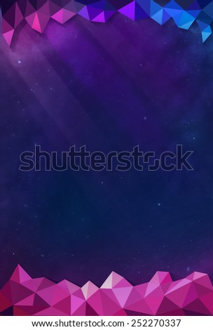 Colorful Cosmos - Purple - with Header and Footer - stock photo