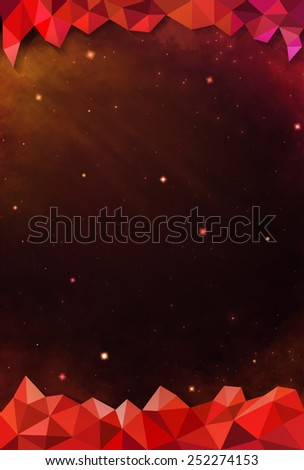 Colorful Cosmos - Red - with Header and Footer - stock photo