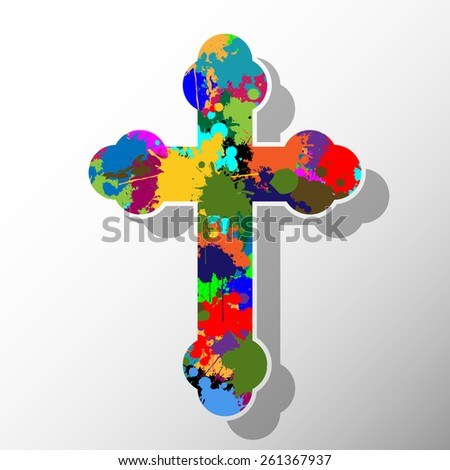 Colorful cross - stock photo