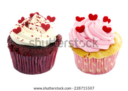 Colorful Cupcakes - stock photo
