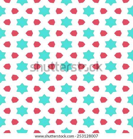 Colorful cute simple star kids texture wallpaper background - stock photo