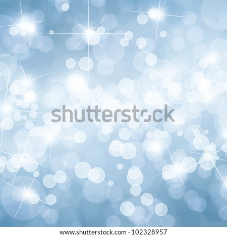 Colorful defocused lights background with copy space - stock photo