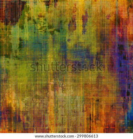 Colorful designed grunge background. With different color patterns: yellow (beige); brown; purple (violet); green; red (orange) - stock photo