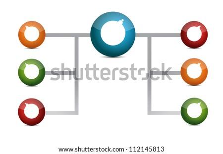 colorful diagram illustration design over a white background - stock photo