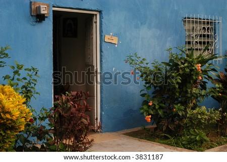 Colorful door - stock photo