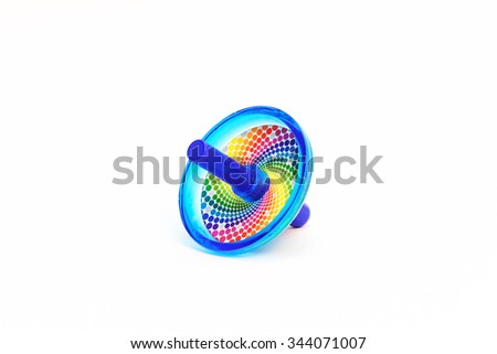 Colorful Dreidels for Hanukkah - stock photo