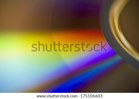 Colorful dvd disk - stock photo