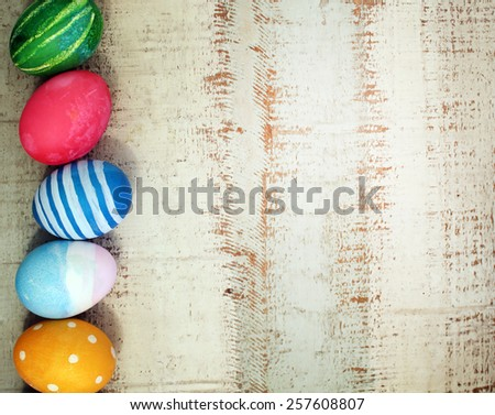 Colorful easter eggs. Background with easter eggs. - stock photo