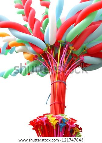 Colorful elongated balloon - stock photo