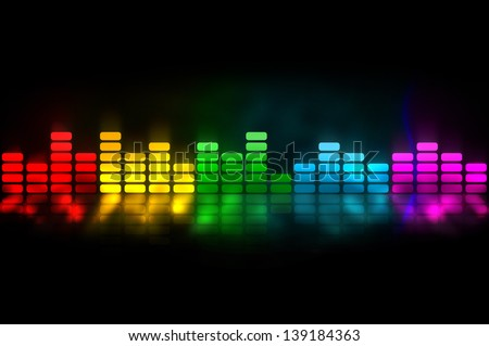 Colorful equalizer - music background - stock photo