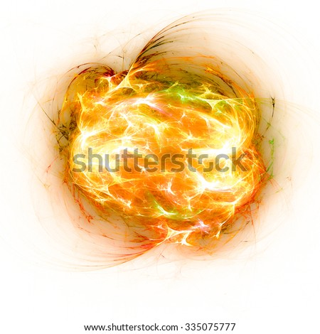Colorful explosion, abstract design element - stock photo