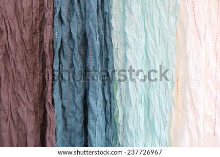 Colorful fabric pattern - stock photo