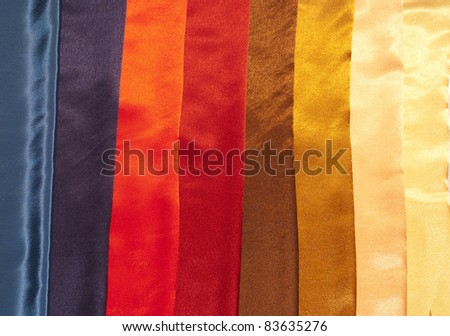 Colorful fabric samples - stock photo