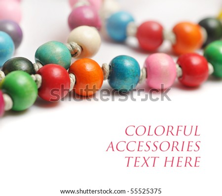 colorful fashion beads - stock photo