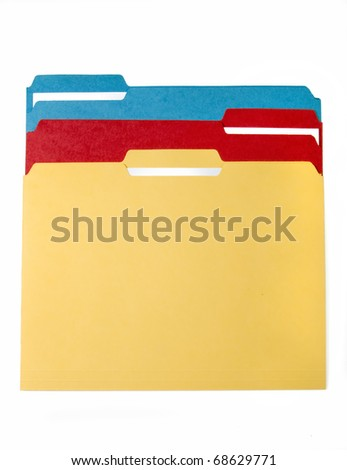 Colorful File Folders - stock photo