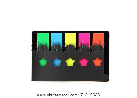 colorful film index for document - stock photo