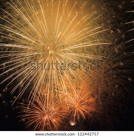Colorful fireworks beautiful - stock photo
