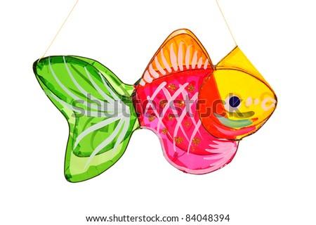 Colorful Fish Shape Lantern For Celebration Of Mid Autumn Festival - stock photo