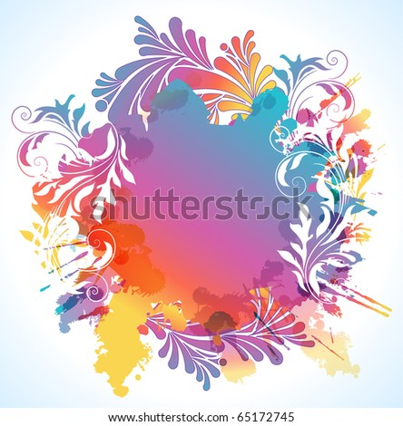 Colorful floral background - stock photo