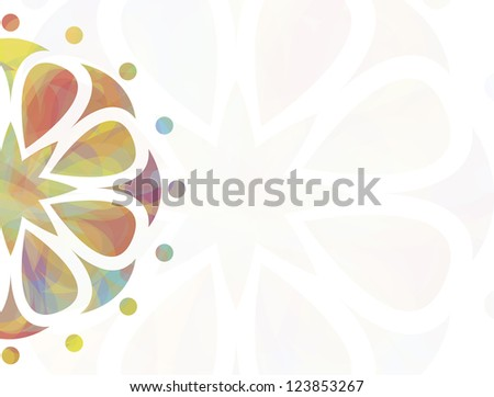 Colorful floral background with blank space to write your own text. Vector version available in my portfolio - stock photo