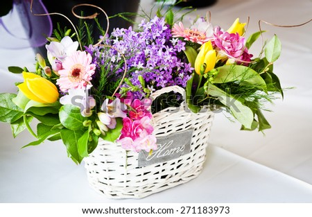 Colorful flower decoration - stock photo