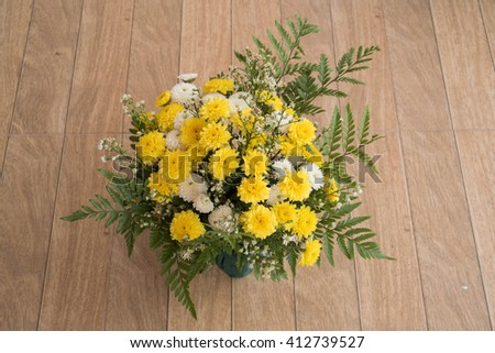 colorful flowers bouquet - stock photo