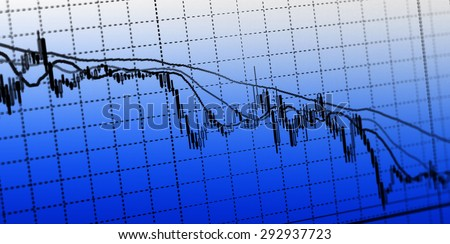 colorful following stock market - stock photo