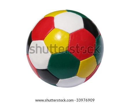 colorful fooball - stock photo
