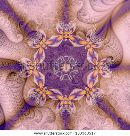 Colorful fractal forms - stock photo