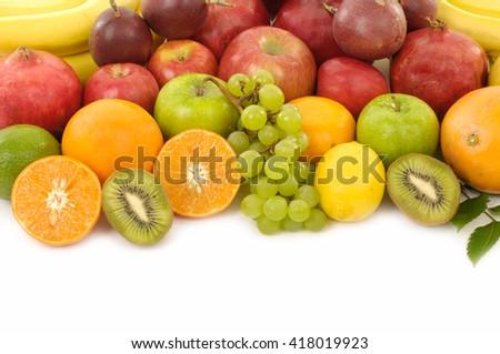 Colorful fresh fruits    - stock photo