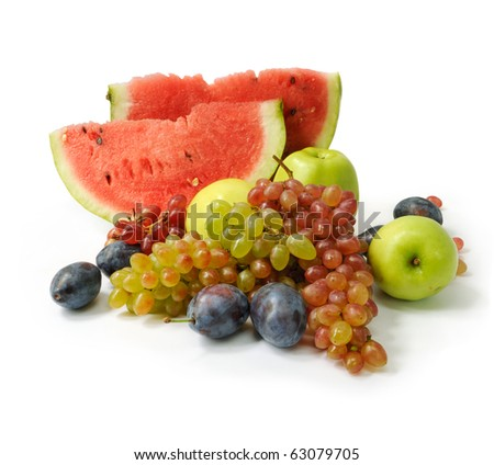 Colorful fresh group of fruits for healthy life. - stock photo
