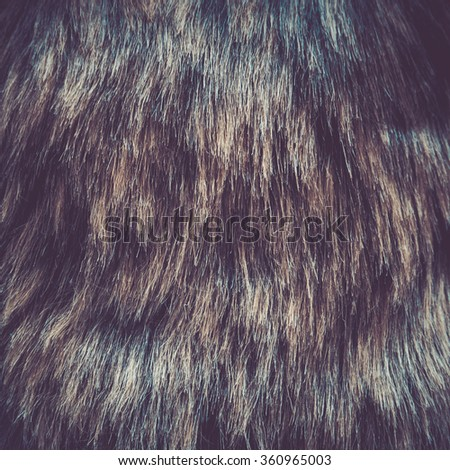 Colorful fur for background or texture, retro effect - stock photo