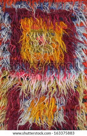Colorful Fuzzy Textile Background - stock photo