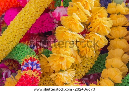 colorful garland - stock photo
