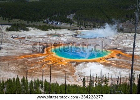 Colorful Geothermal Pool - stock photo