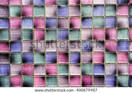 Colorful, glass, glossy mosaic tiles, background, texture - stock photo
