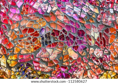 Broken tiles mosaic floor or wall background texture stock photo - Mosaic Wall Stock Photos Images Amp Pictures Shutterstock