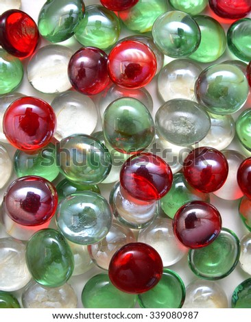 Colorful glass stones. - stock photo