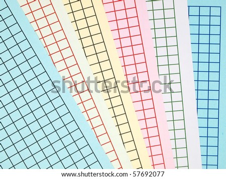 Colorful graph grid scale paper - stock photo