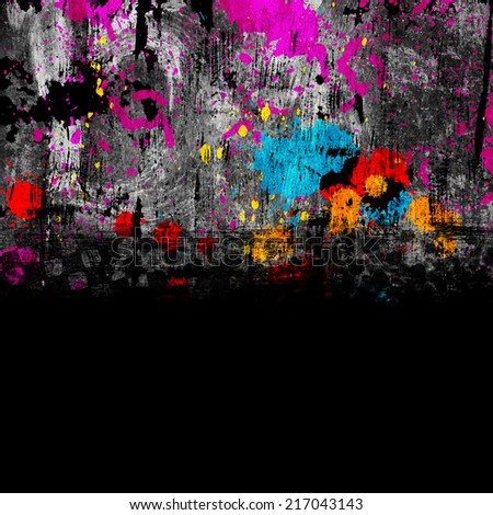 colorful grunge background with stains of paint - stock photo