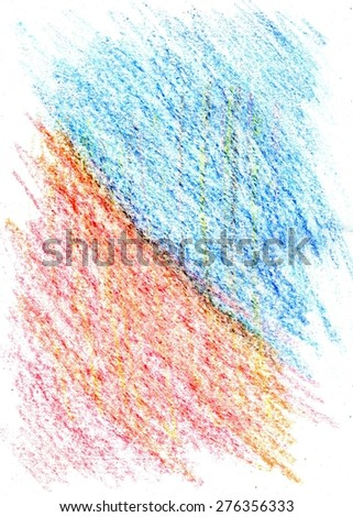 Colorful grunge texture made with wax crayons. - stock photo