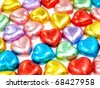 Colorful heart shape chocolate for Valentine's Day - stock photo